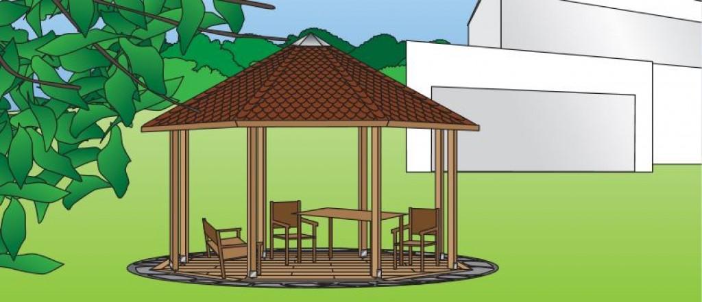 Pavillon aufbauen praktiker marktplatz - Garten zeichnen ...