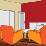 Rot Ist Die Typische Signalfarbe. Eine Einzelne Rote Wand, Z.B. Im  Esszimmer, Wirkt Stimulierend. Gänzlich Rote Zimmer Dagegen Erinnern  Bedrohlich An Feuer.